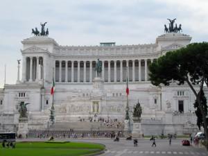 White marble monument