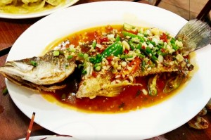 Fresh chilli fish