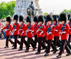 London's Changing of the Guard happens at 11:00am.