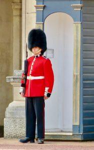 Guard at Buckingham Palace London