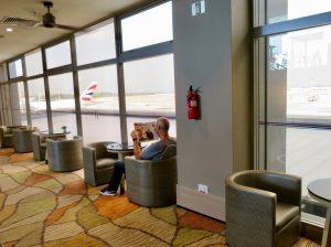 The lounge at Singapore's Aerotel Transit Hotel.