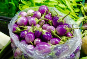 Purple egg plants