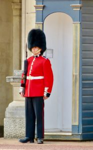 Guard at Buckingham Palace London