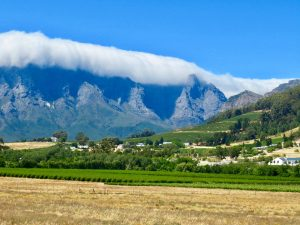 Western Cape Wine Lands South Africa.